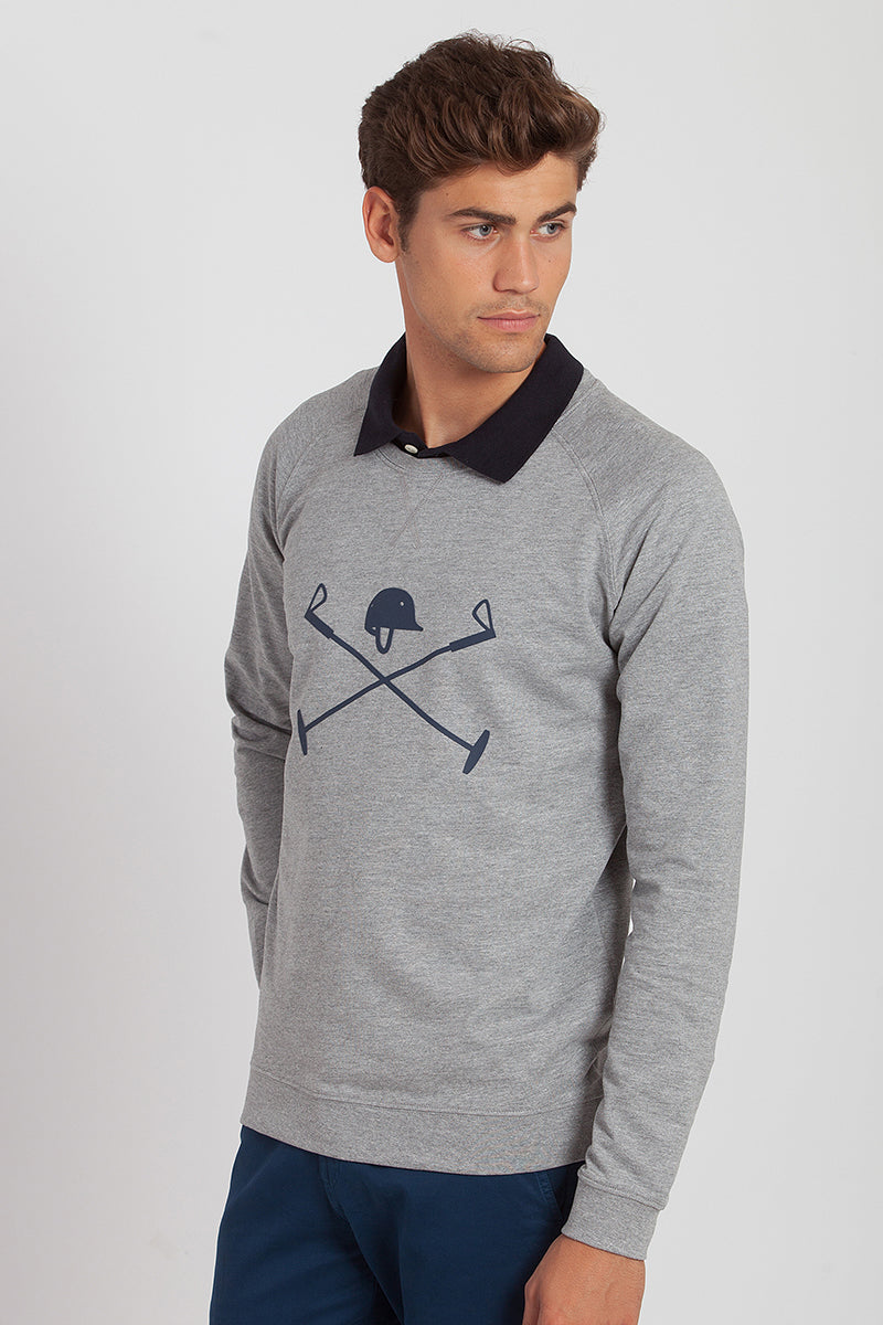 Polo Club Sudadera ACADEMY BRICK LIGHT Gris vigoré JERSEIS Y SUDADERAS