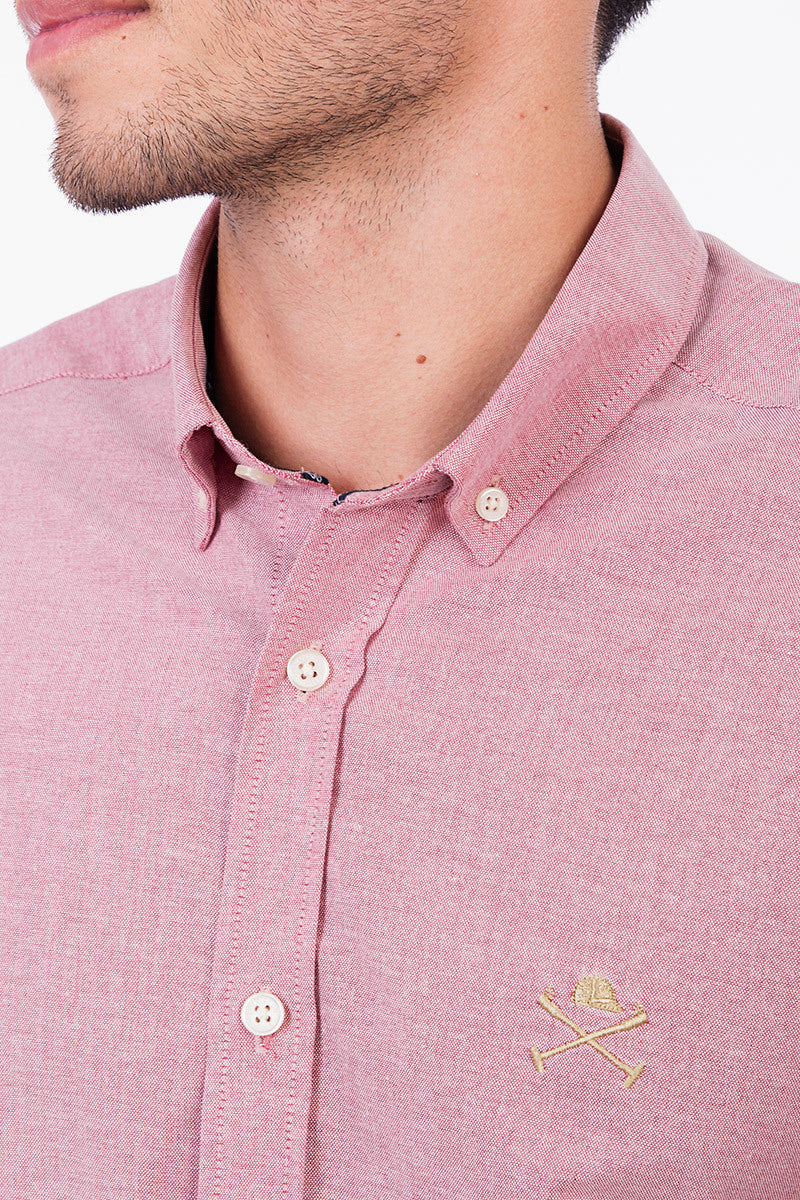Polo Club Camisa ACADEMY OXFORD rojo CAMISAS