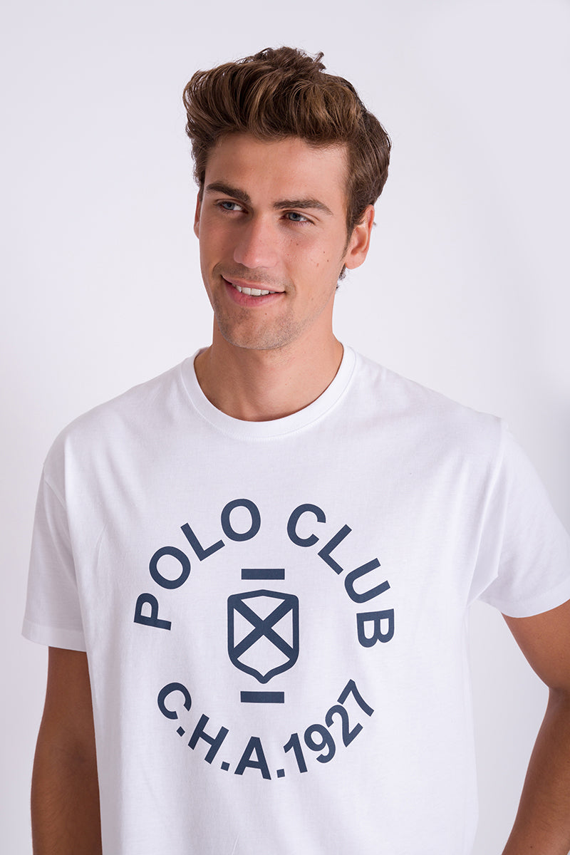 Polo Club Camiseta CIRCLE PRINT TSHIRT blanco CAMISETAS