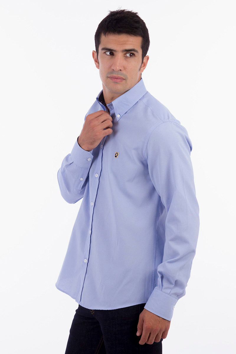 Polo Club Camisa GENTLE SIR OXFORD azul celeste CAMISAS