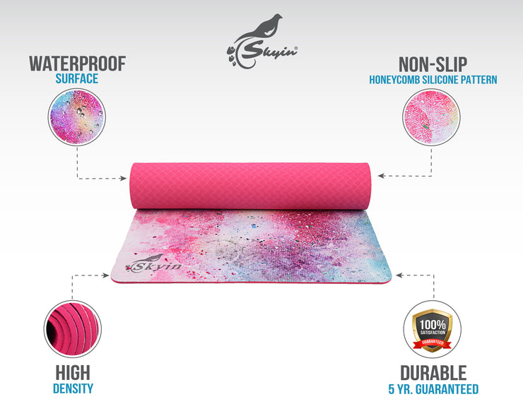 Skyin Hot Yoga Mat(Fantasy)