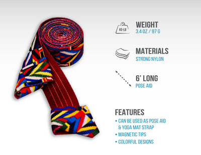 Skyin 2-in-1 Magnetic Yoga Strap (Tribal)