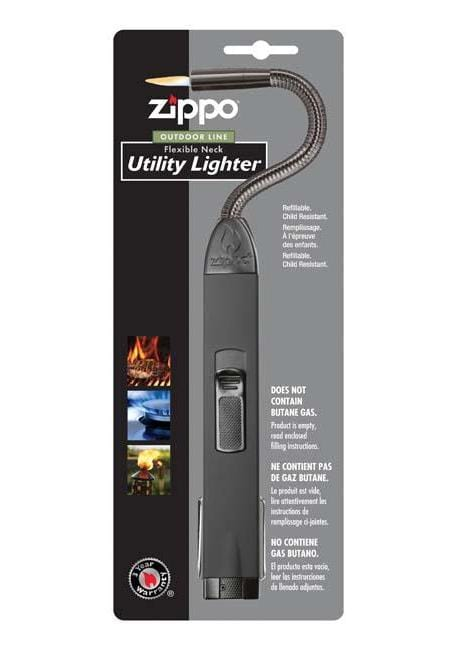 Zippo Flexible Neck Utility Lighter, Unfilled - Black 121321 - Gear Exec