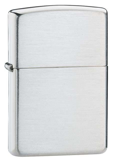 Zippo Lighter: Solid Sterling Silver - Brushed 13