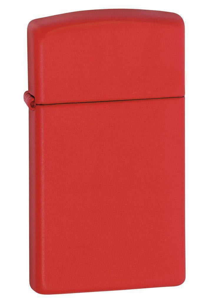 Zippo Lighter: Slim - Red Matte 1633