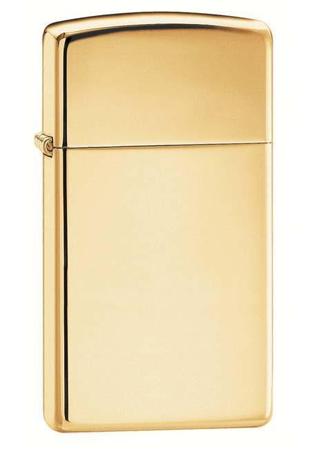Zippo Lighter: Slim  - HP Brass 1654B