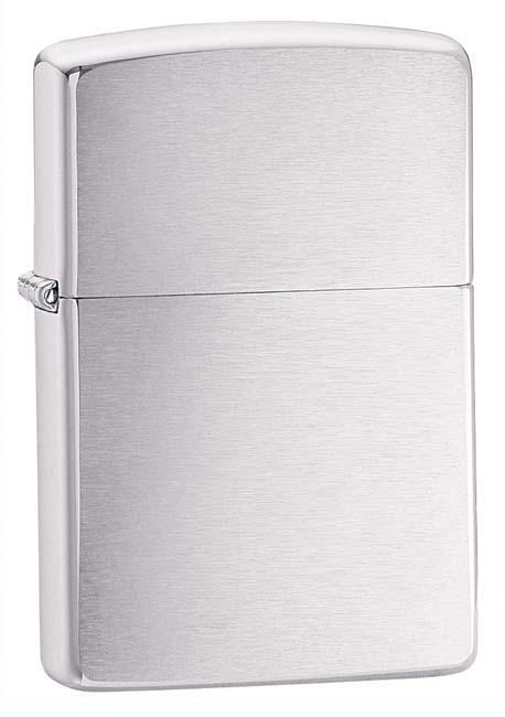 Zippo Lighter: Brushed Chrome 200 - Gear Exec