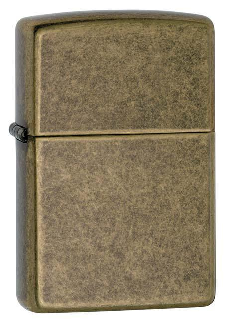 Zippo Lighter: Antique Brass - Antique Brass 201FB - Gear Exec