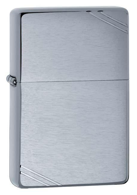 Zippo Lighter: Vintage - Brushed Chrome 230