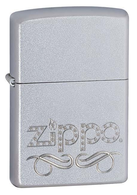 Zippo Lighter: Zippo Scroll - Satin Chrome 24335