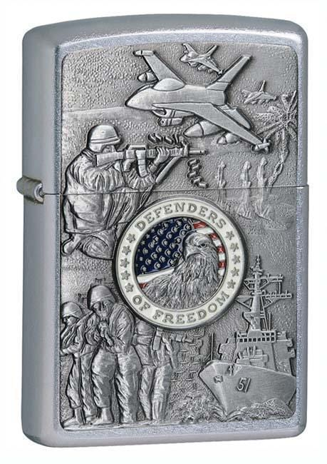 Zippo Lighter: Joined Forces Emblem - Street Chrome 24457