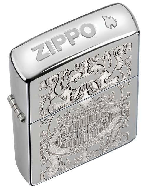Zippo Lighter: Zippo American Classic Crown Stamp - HP Chrome