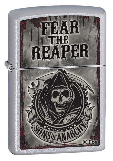 Zippo Lighter: Sons of Anarchy, Fear the Reaper - Satin Chrome