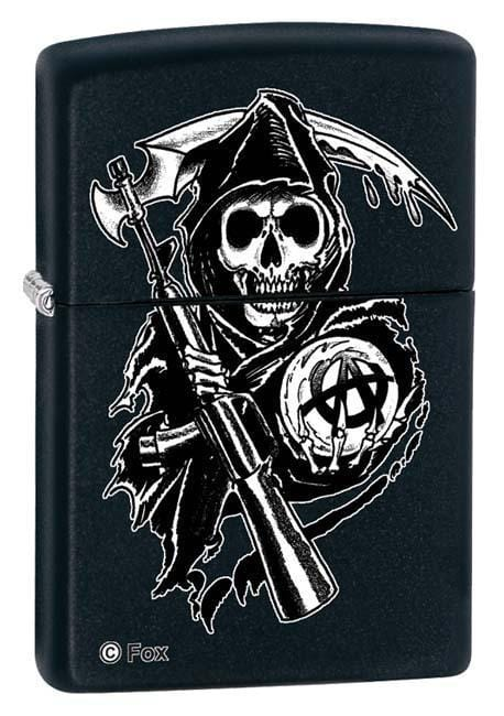 Zippo Lighter: Sons of Anarchy, Grim Reaper - Black Matte 28504