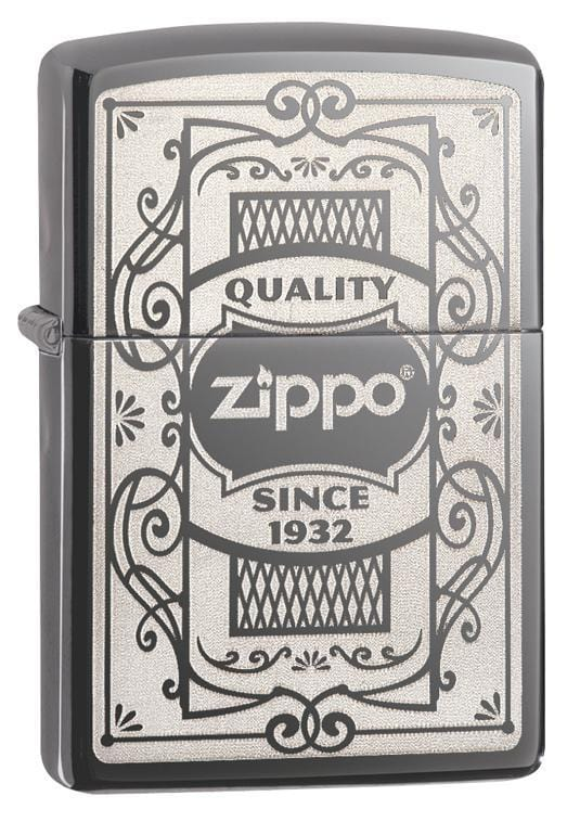Zippo Lighter: Zippo, Quality Since 1932 - Black Ice 29425