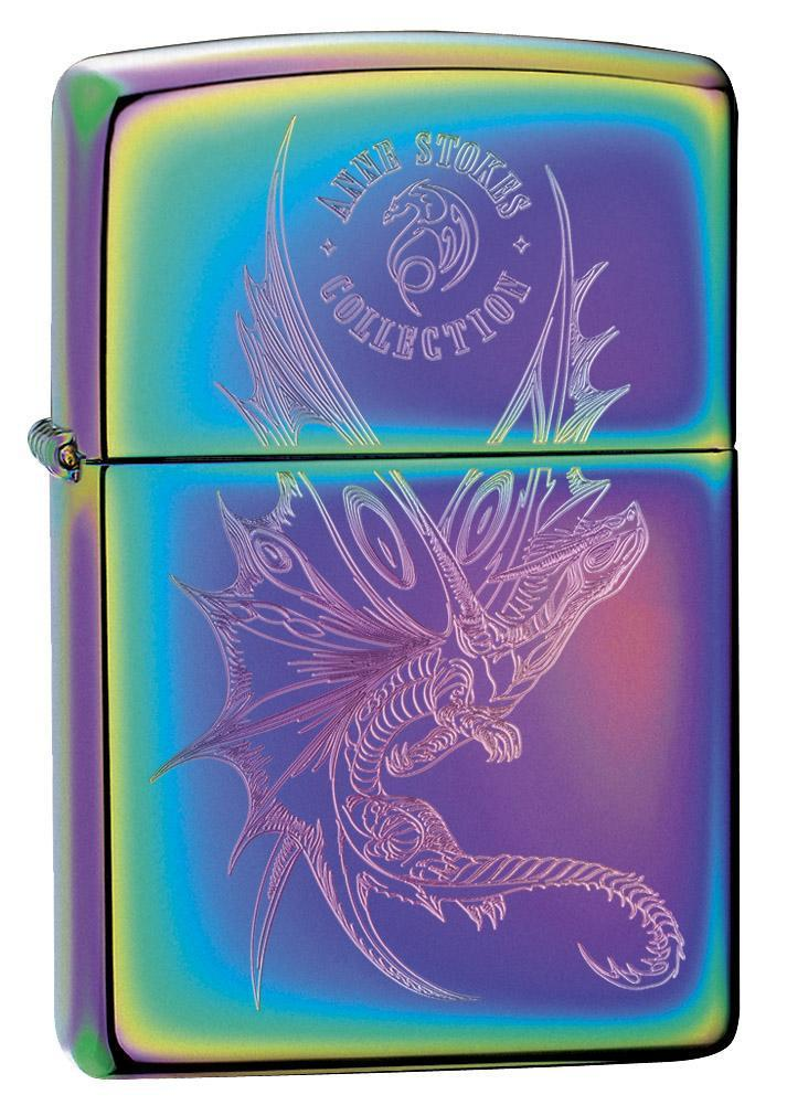 Zippo Lighter: Anne Stokes Engraved Dragon - Spectrum 29586 - Gear Exec