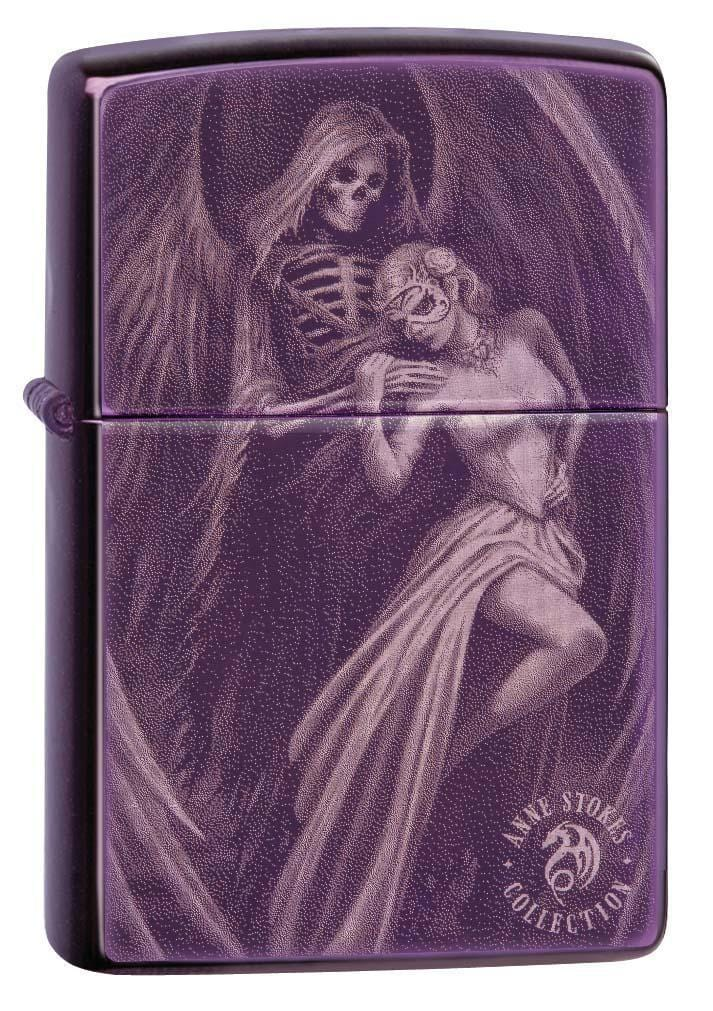 Zippo Lighter: Anne Stokes Skeleton Angel - Abyss 29717 - Gear Exec