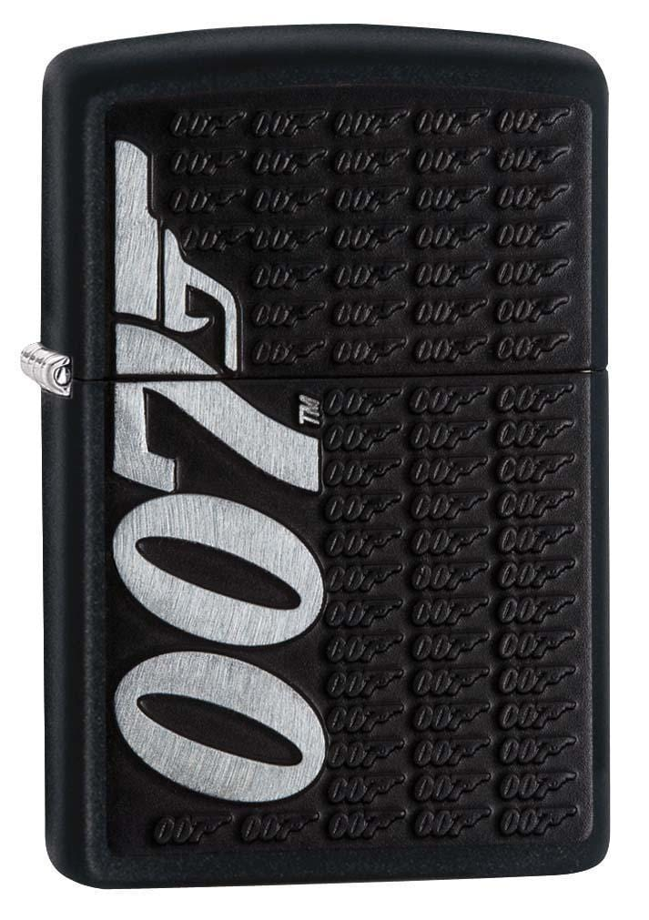 Zippo Lighter: James Bond 007 Emblem - Black Matte 29718