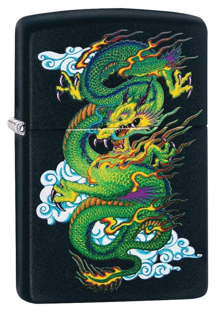 Zippo Lighter: Chinese Dragon - Black Matte 29839 - Gear Exec