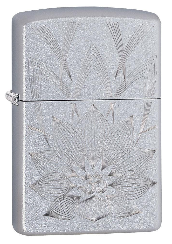 Zippo Lighter: Lotus Ohm - Satin Chrome 29859