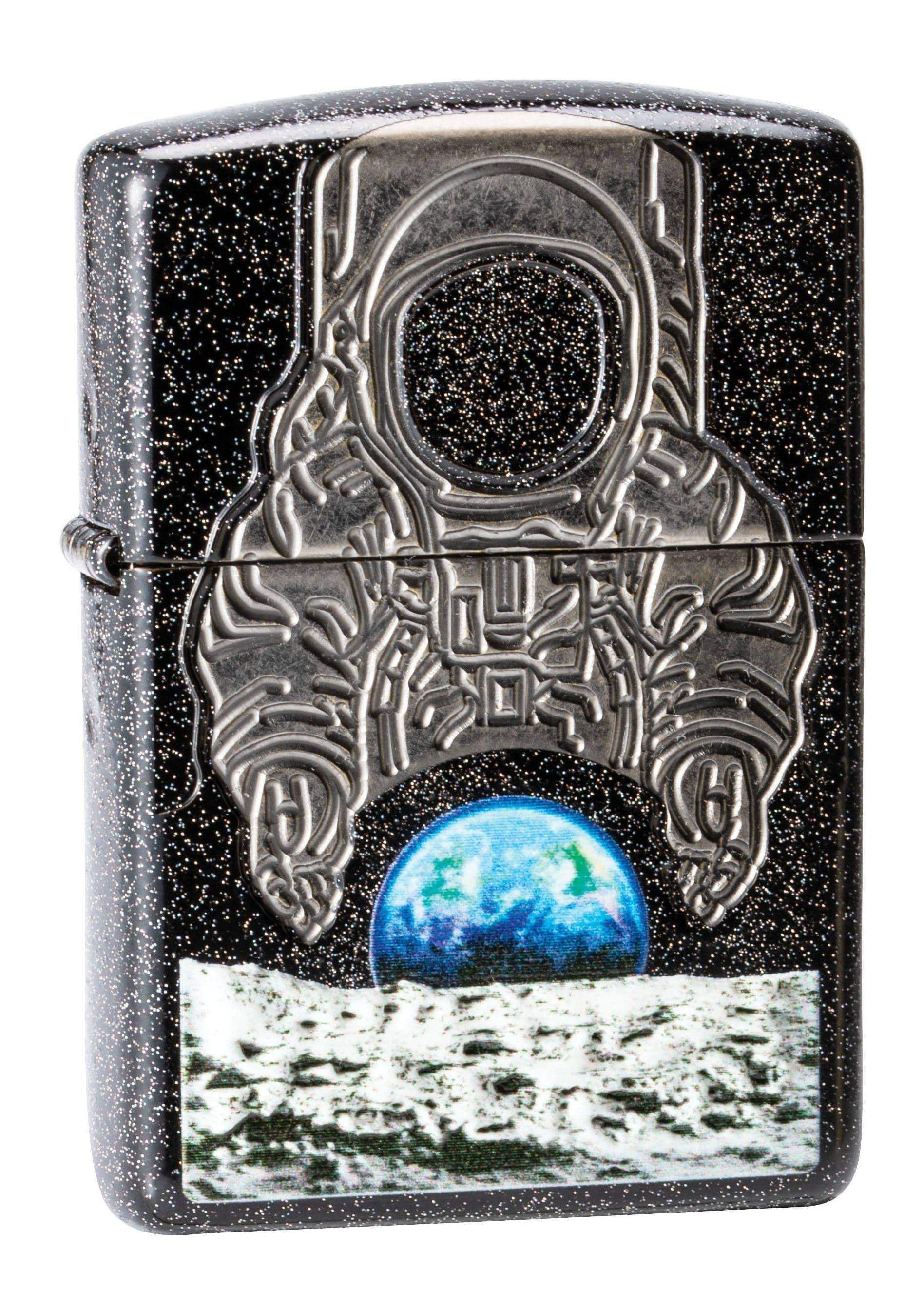 Zippo Lighter: 2019 COTY- Moon Landing, Armor - Galaxy Stardust 29862 - Gear Exec