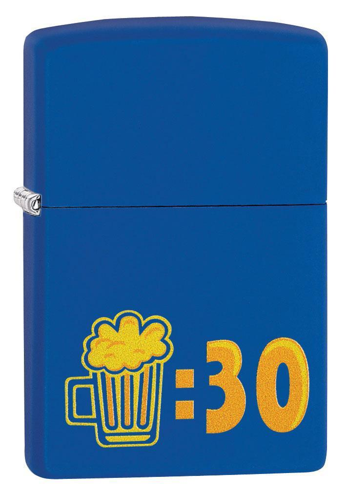Zippo Lighter: Beer Thirty - Royal Blue Matte 29869 - Gear Exec