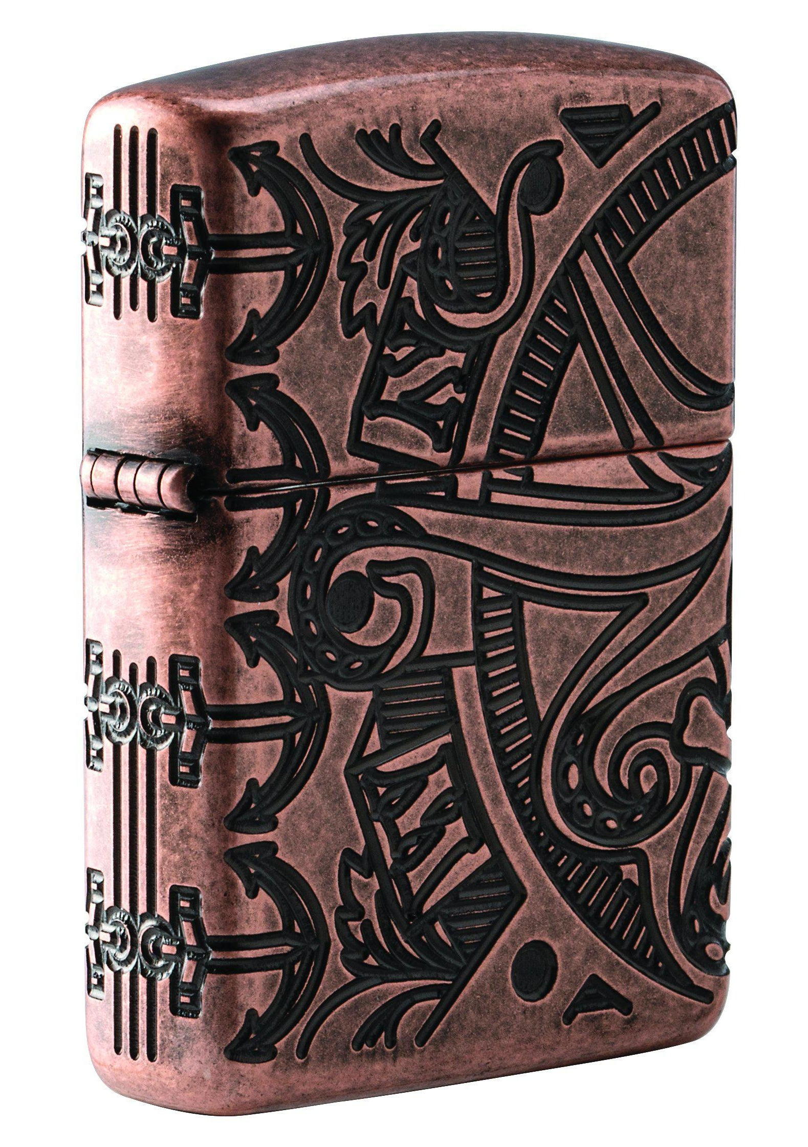 Zippo Lighter: Armor MultiCut Nautical Scene - Antique Copper 49000 (2059591614579)
