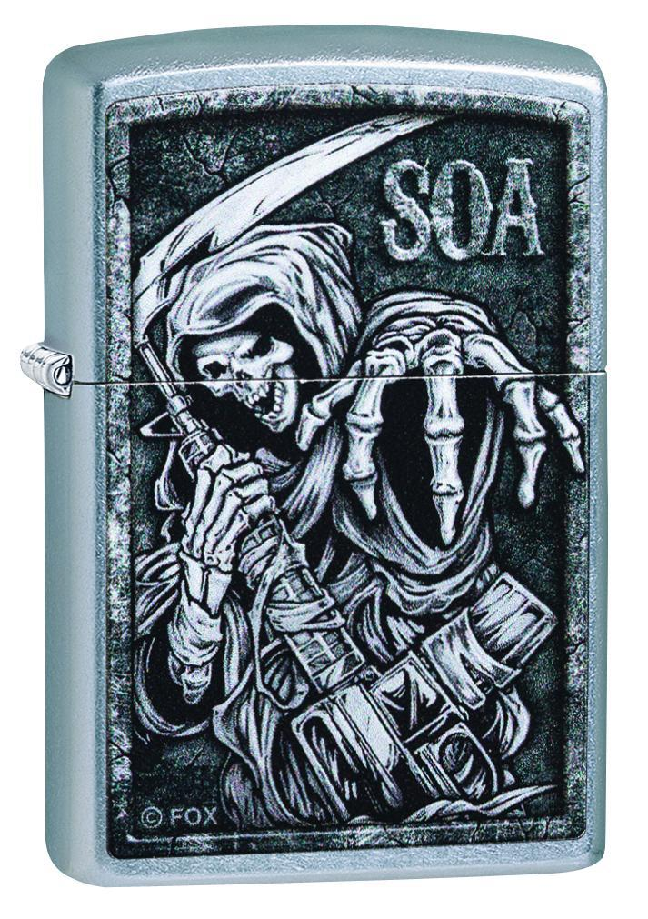 Zippo Lighter: Sons of Anarchy Grim Reaper - Street Chrome 49004