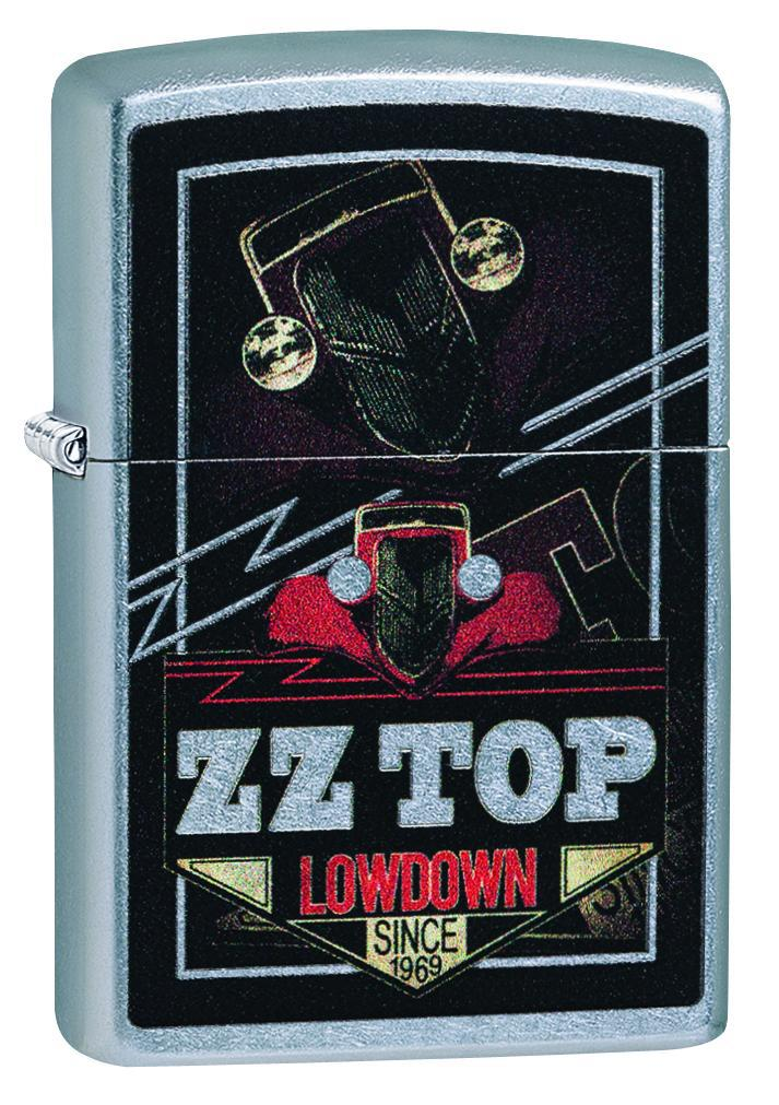 Zippo Lighter: ZZ Top Logo - Street Chrome 49008