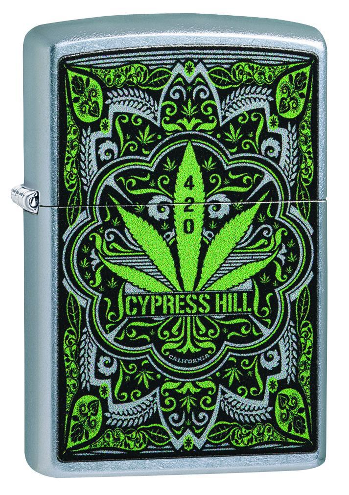 Zippo Lighter: Cypress Hill Weed Leaf - Street Chrome 49010