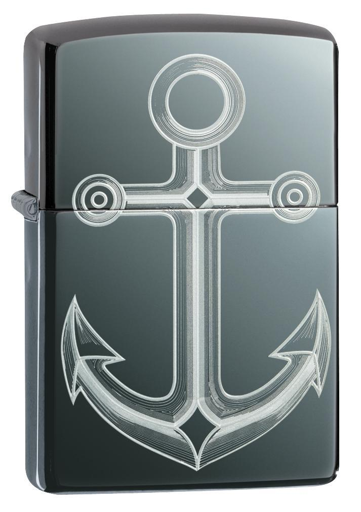Zippo Lighter: Anchor - Black Ice 49028