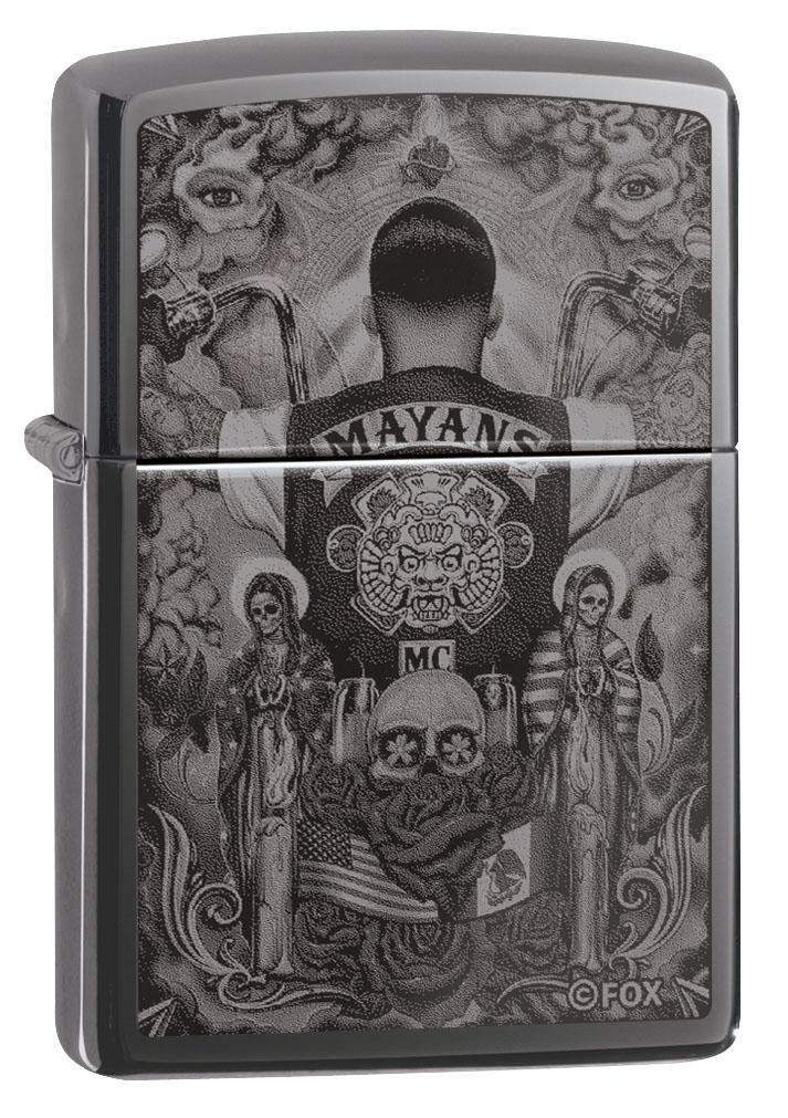 Zippo Lighter: Mayans M.C. Photo Image - Black Ice 49031