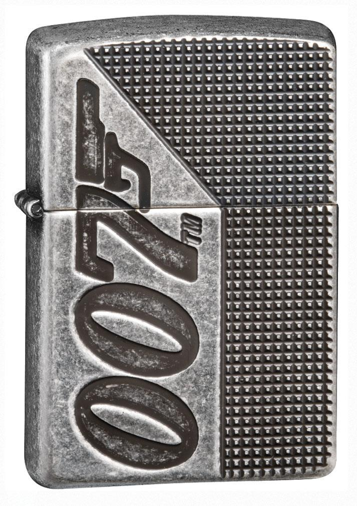 Zippo Lighter: Armor James Bond 007, Deep Carved - Antique Silver Plate 49033