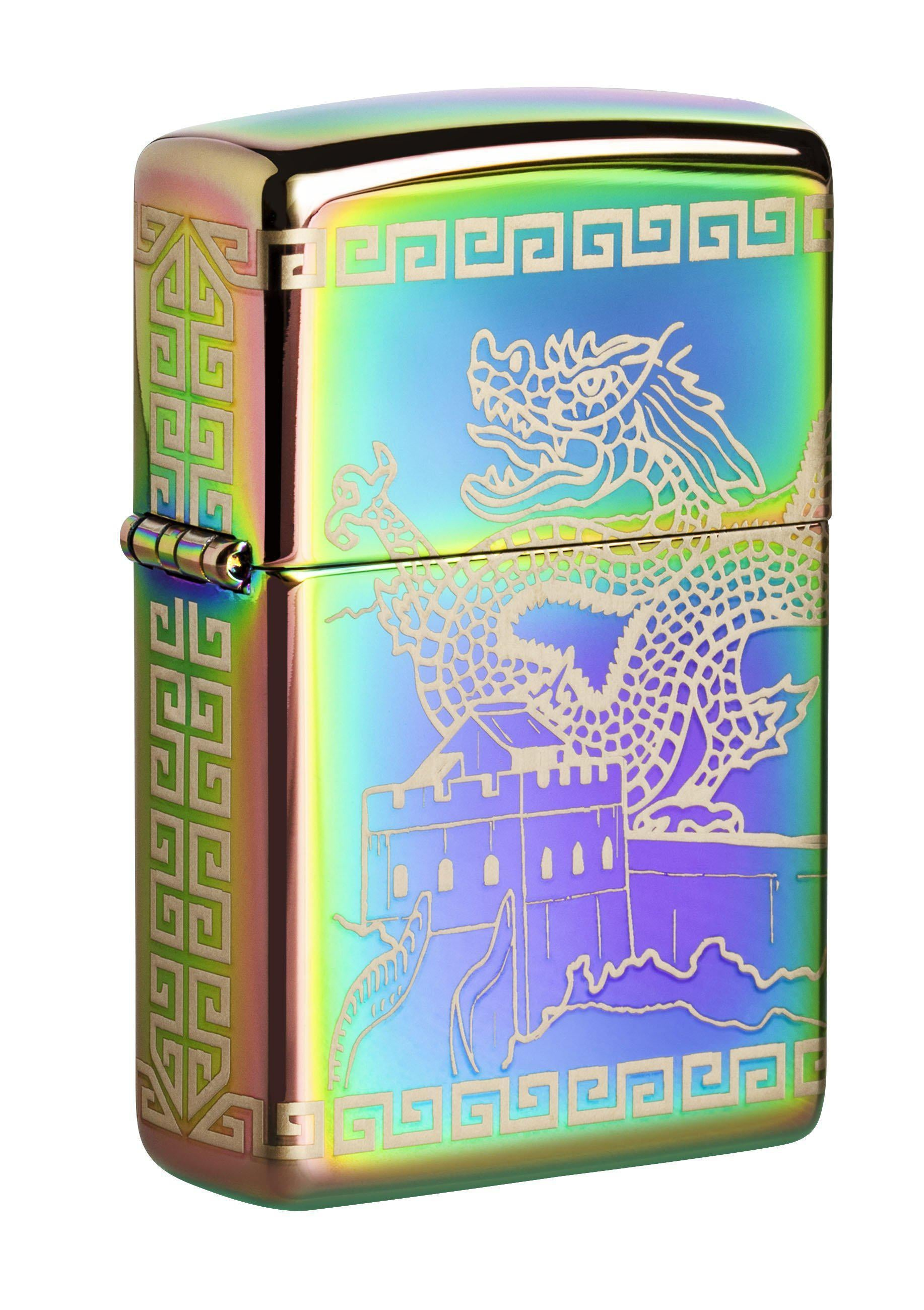 Zippo Lighter: Great Wall of China and Dragon - Spectrum 49045
