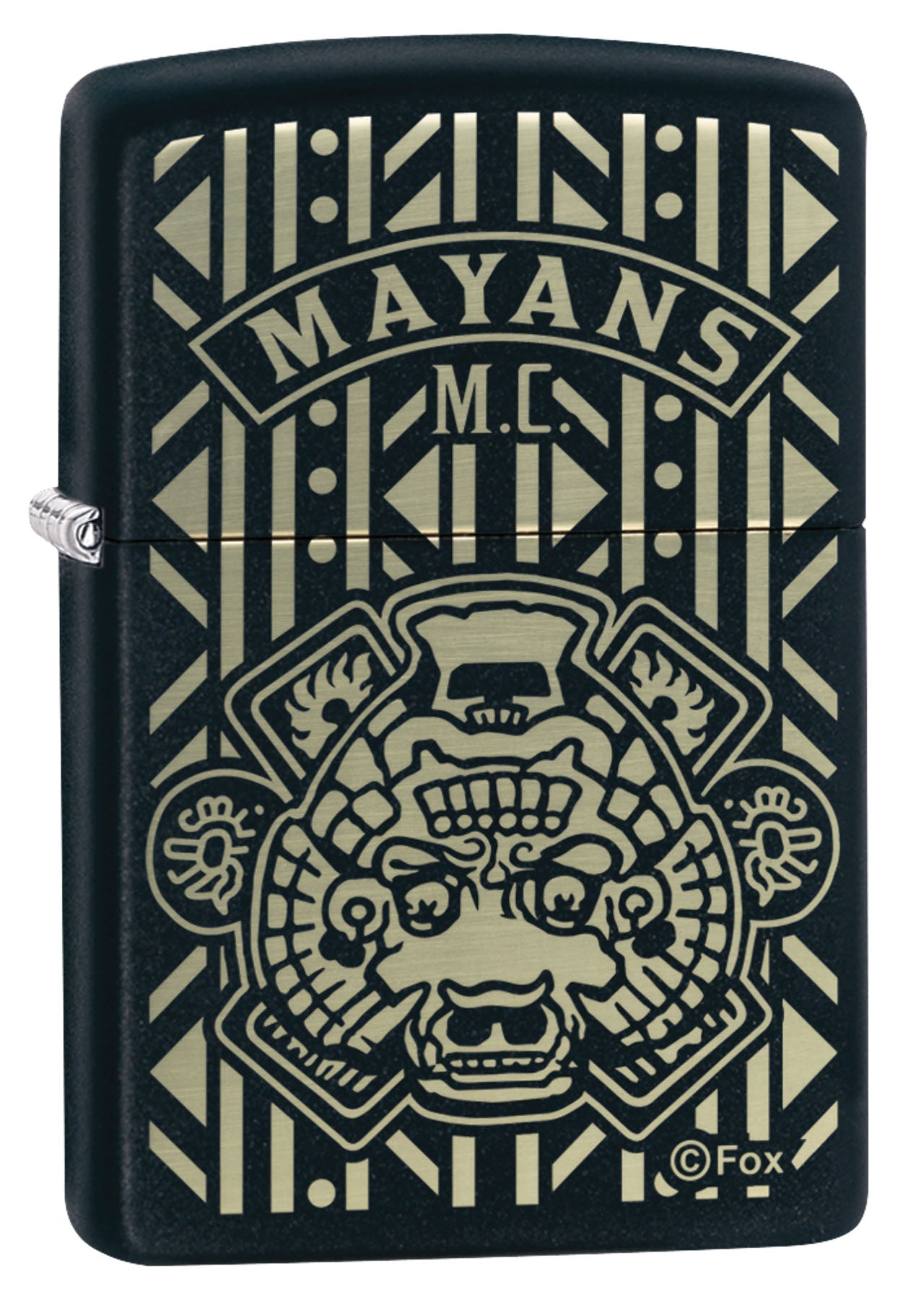 Zippo Lighter: Mayans M.C., Engraved - Black Matte 49087
