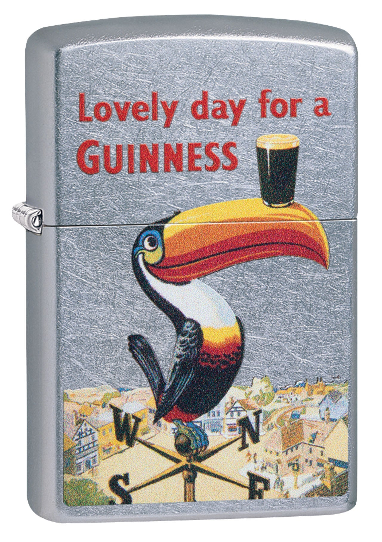 Zippo Lighter: Lovely Day For A Guinness - Street Chrome 49093 (4555555111005)