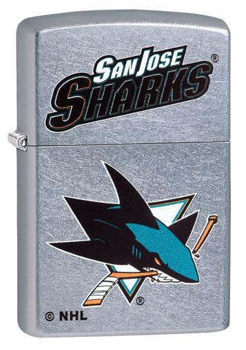 Zippo Lighter: NHL Hockey, San Jose Sharks - Street Chrome 49383