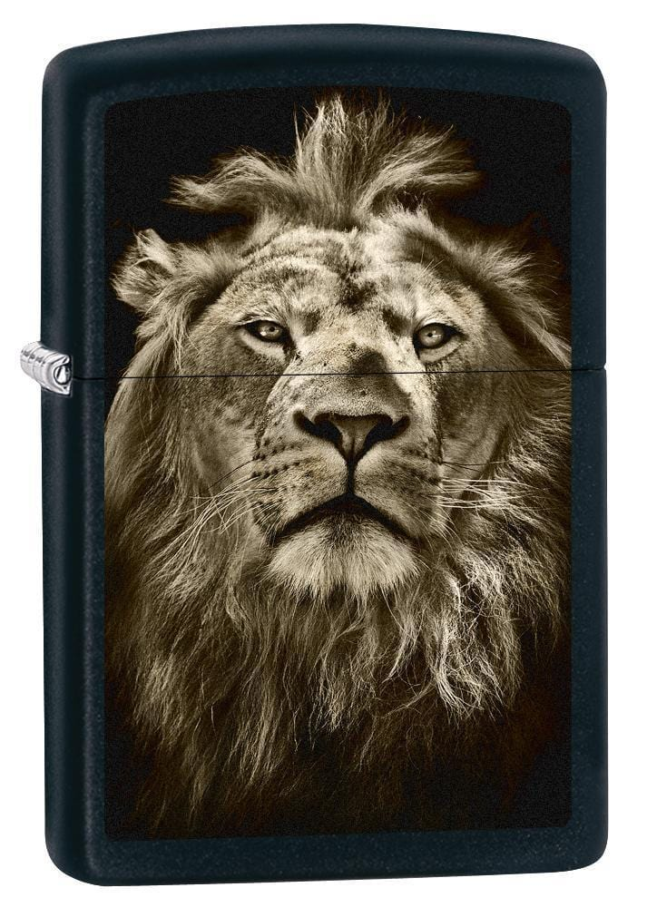 Zippo Lighter: Lion Eyes - Black Matte 76152