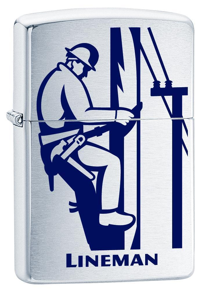 Zippo Lighter: Lineman - Brushed Chrome 76806