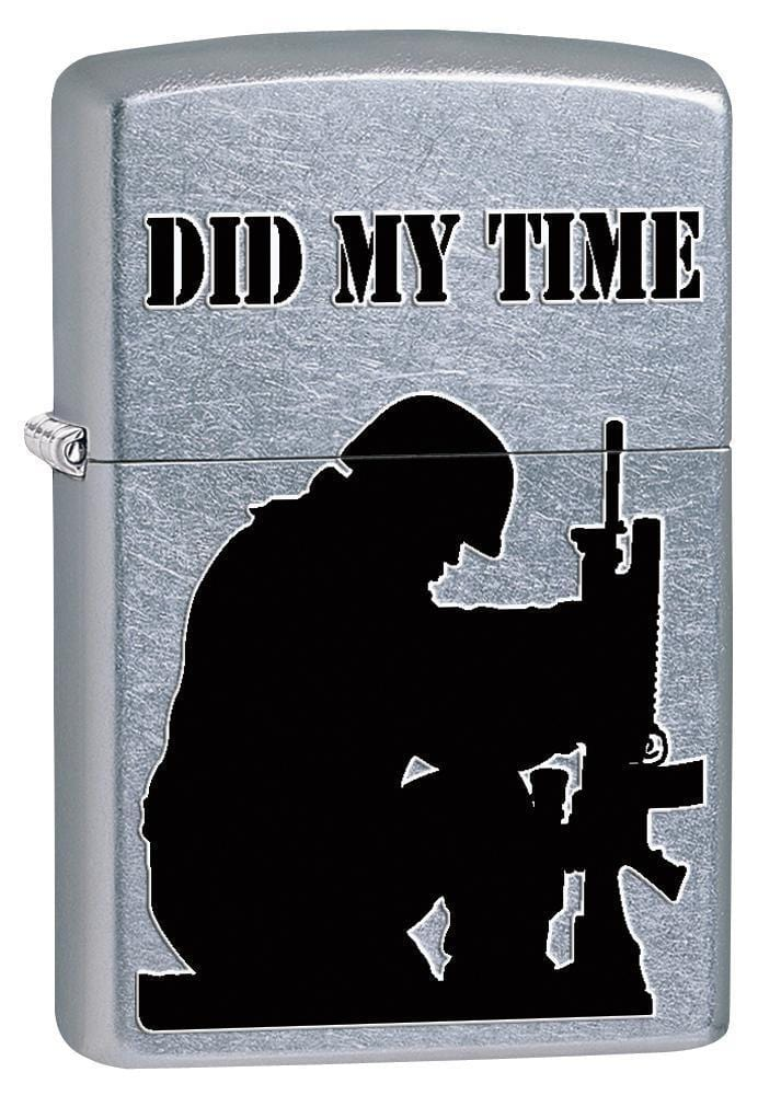 Zippo Lighter: Army Soldier, Did My Time - Street Chrome 76890 - Gear Exec (1975587078259)