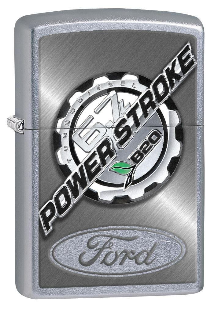 Zippo Lighter: Ford 6.7L Powerstroke - Street Chrome 77016 - Gear Exec