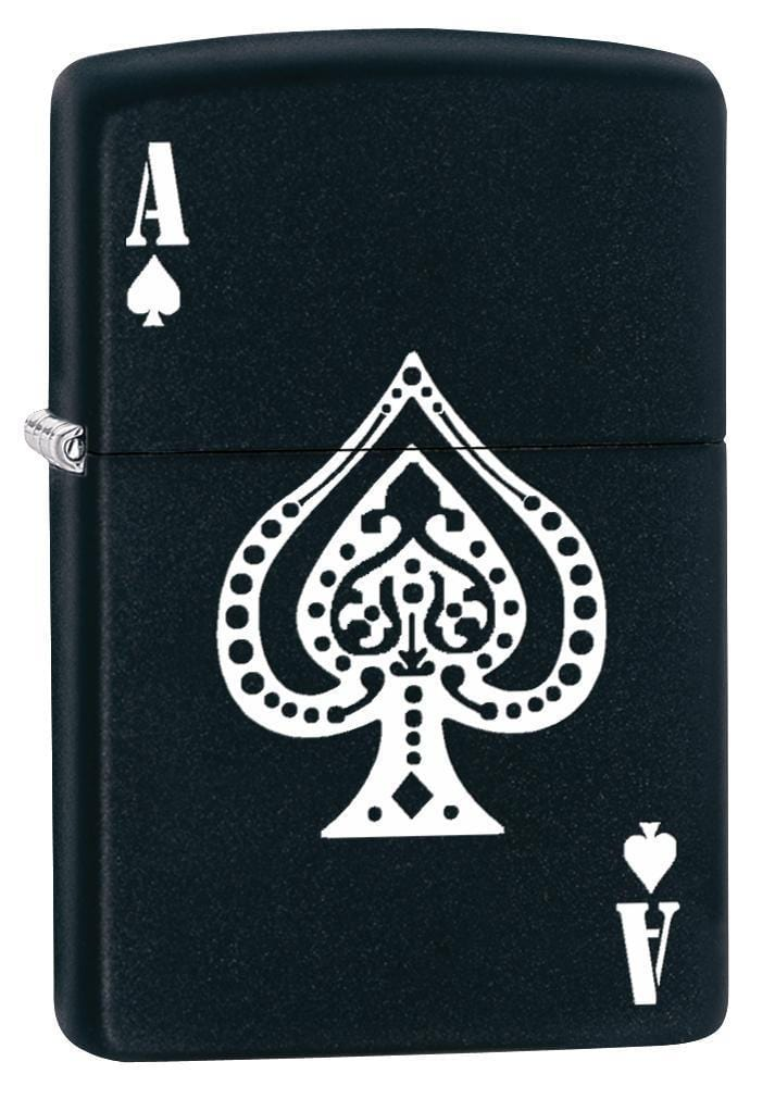 Zippo Lighter: Ace of Spades - Black Matte 77049 - Gear Exec (1975589535859)