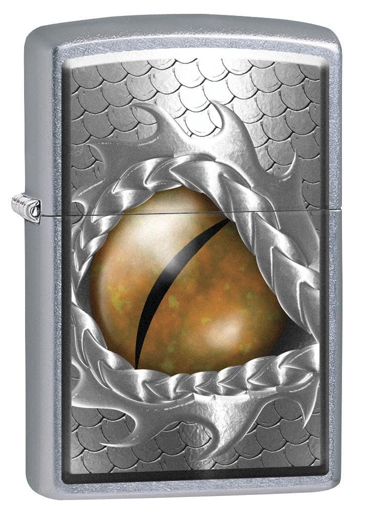 Zippo Lighter: Open Dragon Eye - Street Chrome 77109
