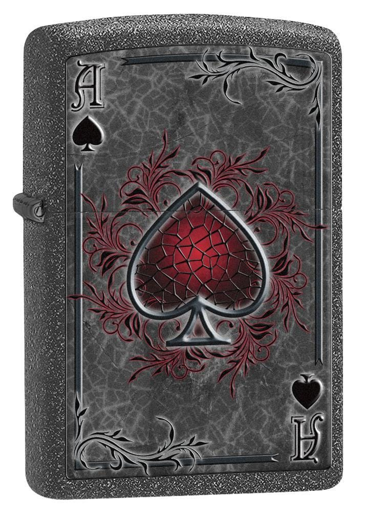Zippo Lighter: Ace of Spades - Iron Stone 77151 - Gear Exec (1975590879347)