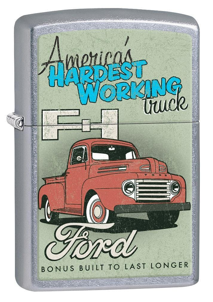 Zippo Lighter: Ford, America's Hardest Working Truck - Street Chrome 77163 - Gear Exec