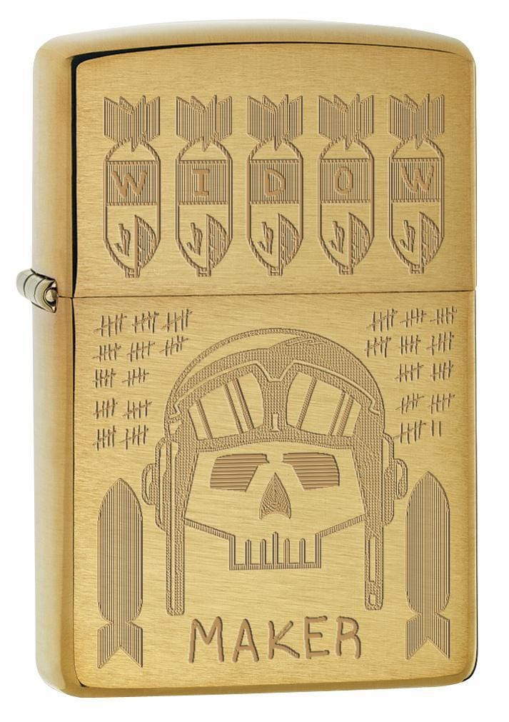 Zippo Lighter: Widow Maker, Trench Art - Brushed Brass 77385