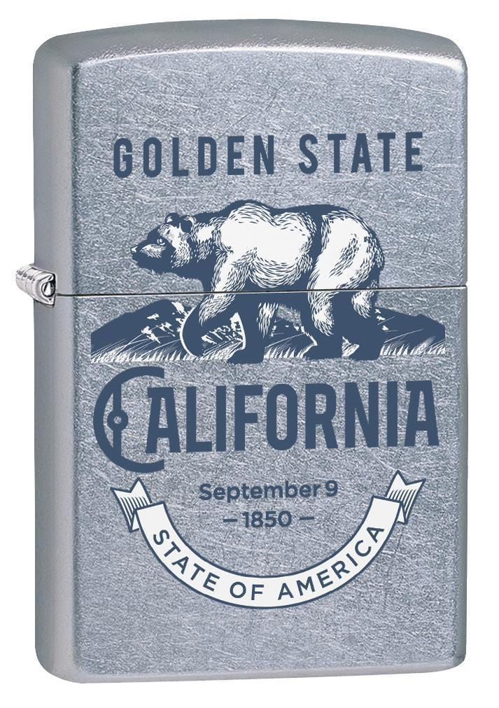 Zippo Lighter: California, The Golden State - Street Chrome 78135 - Gear Exec
