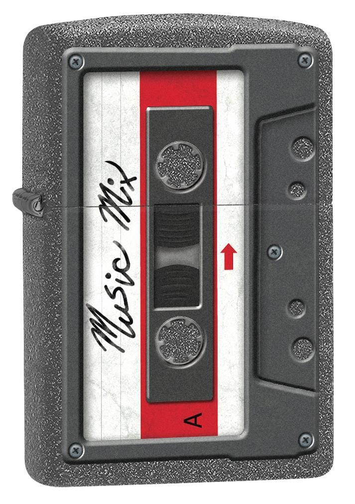 Zippo Lighter: Cassette Tape - Iron Stone 78252 - Gear Exec