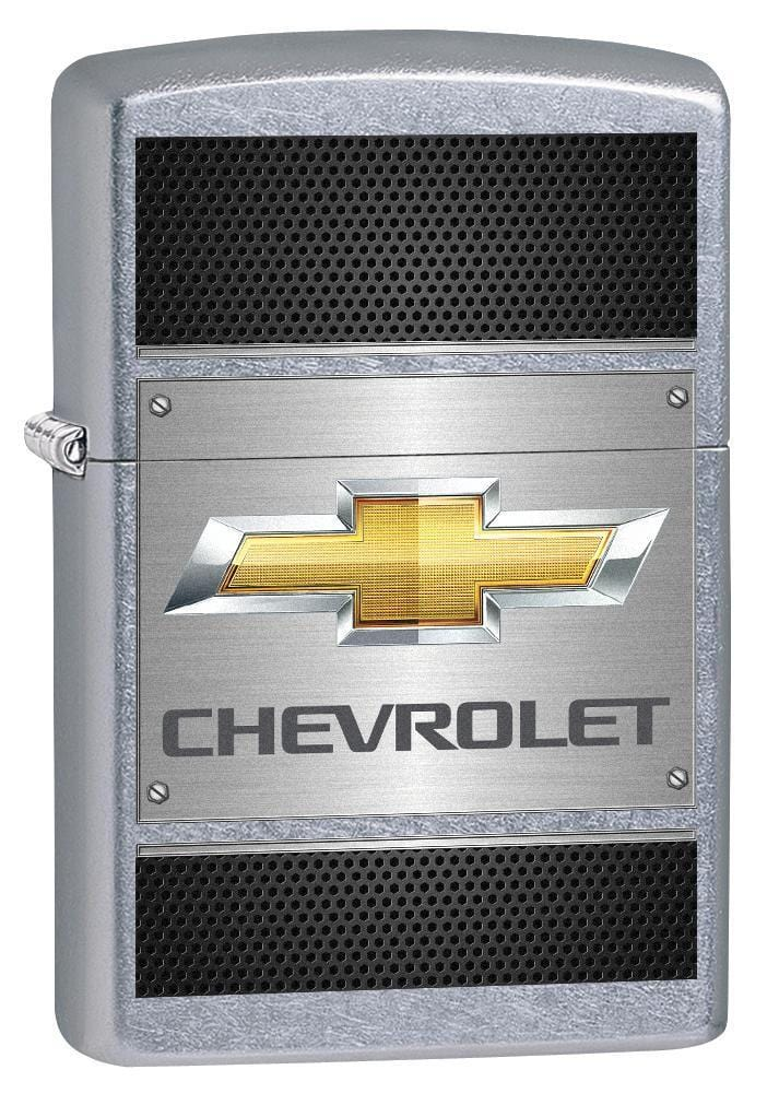 Zippo Lighter: Chevy, Chevrolet on Steel - Street Chrome 78405 - Gear Exec