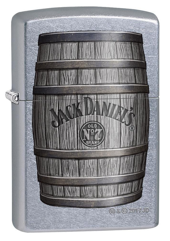 Zippo Lighter: Jack Daniels Whiskey Barrel - Street Chrome 78423